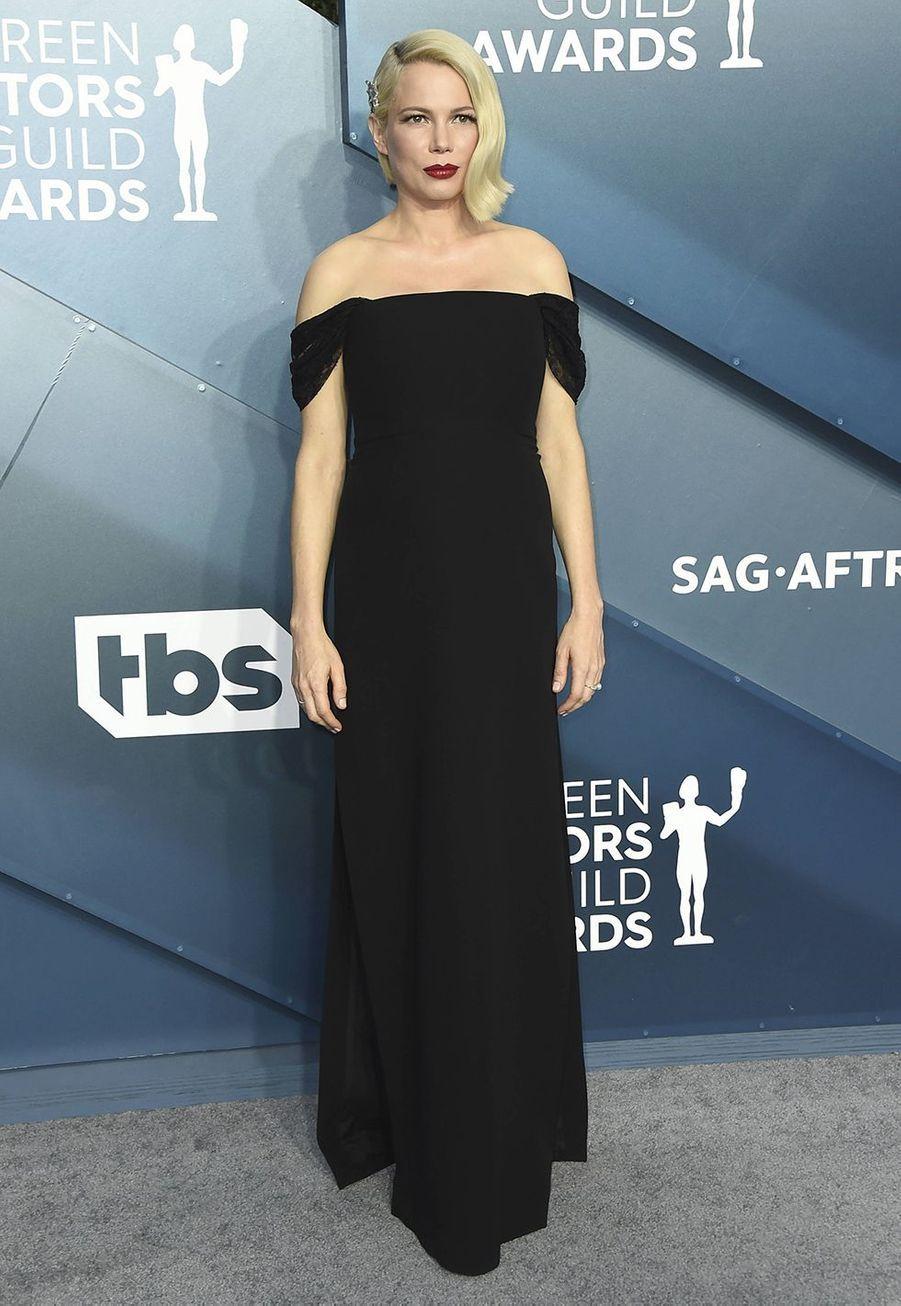 Michelle Williams en Louis Vuittonlors desScreen Actors Guild Awards à Los Angeles, le 19 janvier 2020.