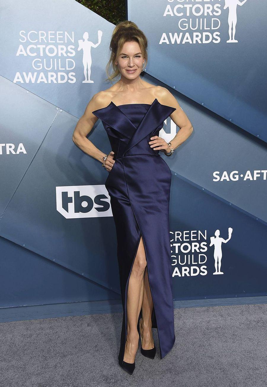 Renee Zellweger dans une robe signéeMaison Margielalors desScreen Actors Guild Awards à Los Angeles, le 19 janvier 2020.