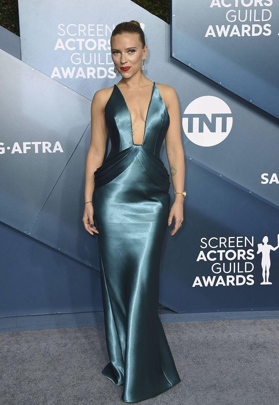 Scarlett Johansson en Armanilors desScreen Actors Guild Awards à Los Angeles, le 19 janvier 2020.