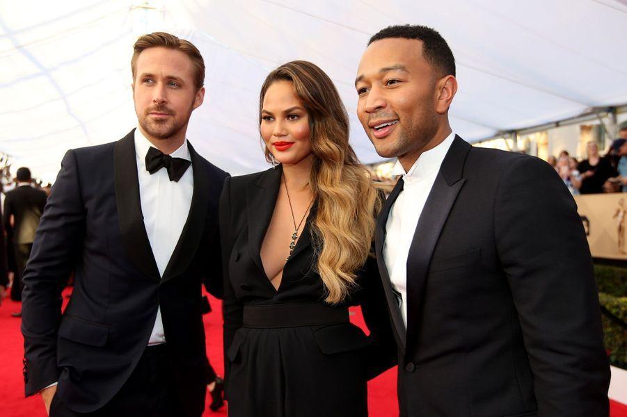 Ryan Gosling, Chrissy Teigen et John Legend