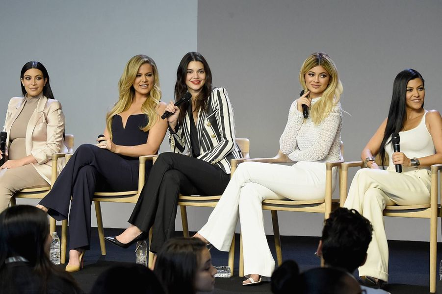 Kim, Khloé, Kendall, Kylie et Kourtney en 2015 à New York