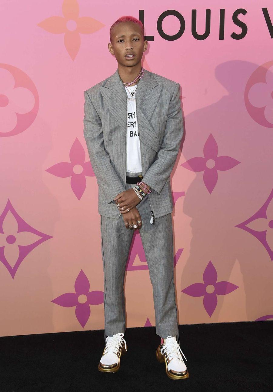 Jaden Smithau cocktailLouis Vuitton X à Beverly Hills le 27 juin 2019