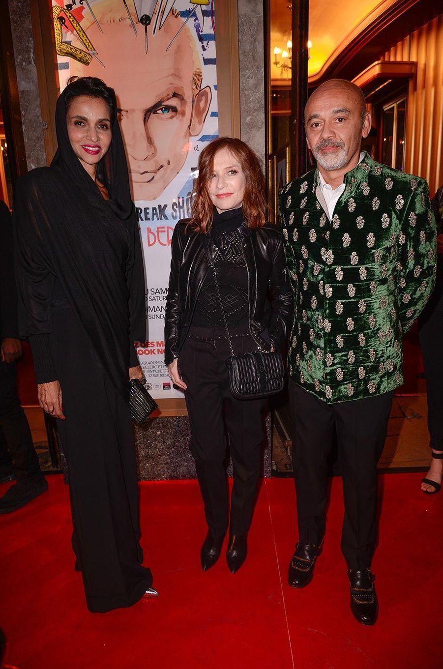 Farida Khelfa, Isabelle Huppert et Christian Louboutin