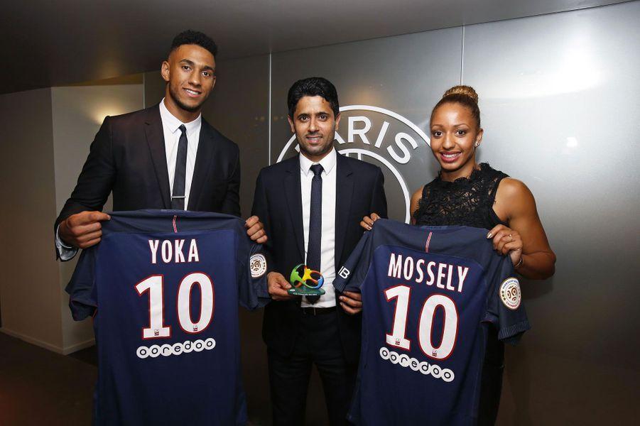 Estelle Mossely et Tony Yoka rencontre le président du PSG