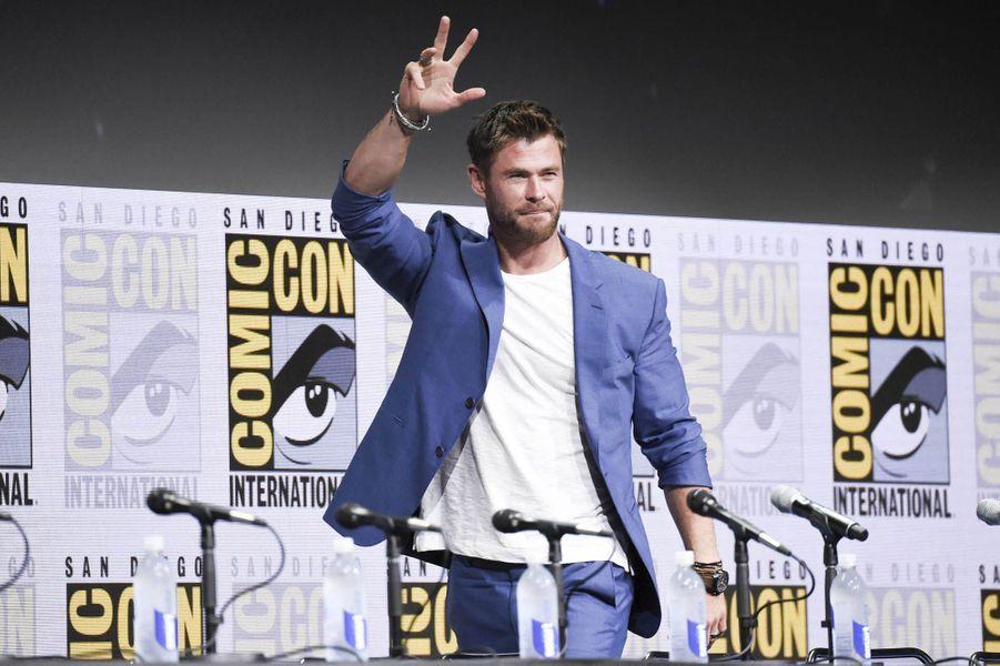 Chris Hemsworthlors du Comic-Con de San Diego.