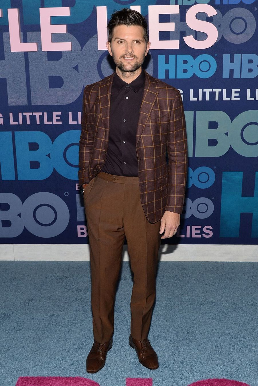 Adam Scott lors de la première de la saison 2 de «Big Little Lies» à New York le 29 mai 2019