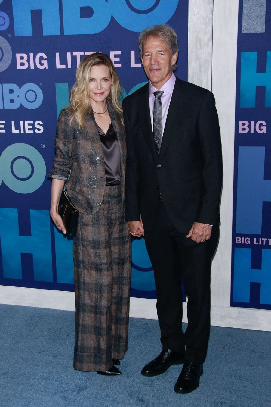 Michelle Pfeiffer et David Edward Kelley lors de la première de la saison 2 de «Big Little Lies» à New York le 29 mai 2019