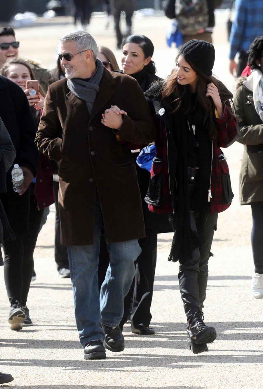 George Clooney et son épouse Amal Alamuddin Clooney