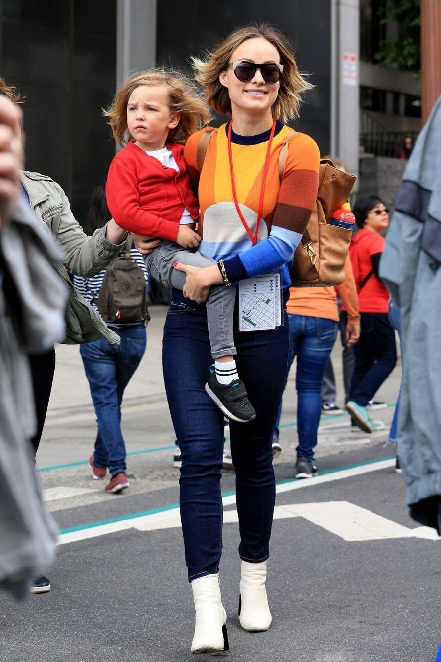 Olivia Wilde et son fils Otis Sudeikis