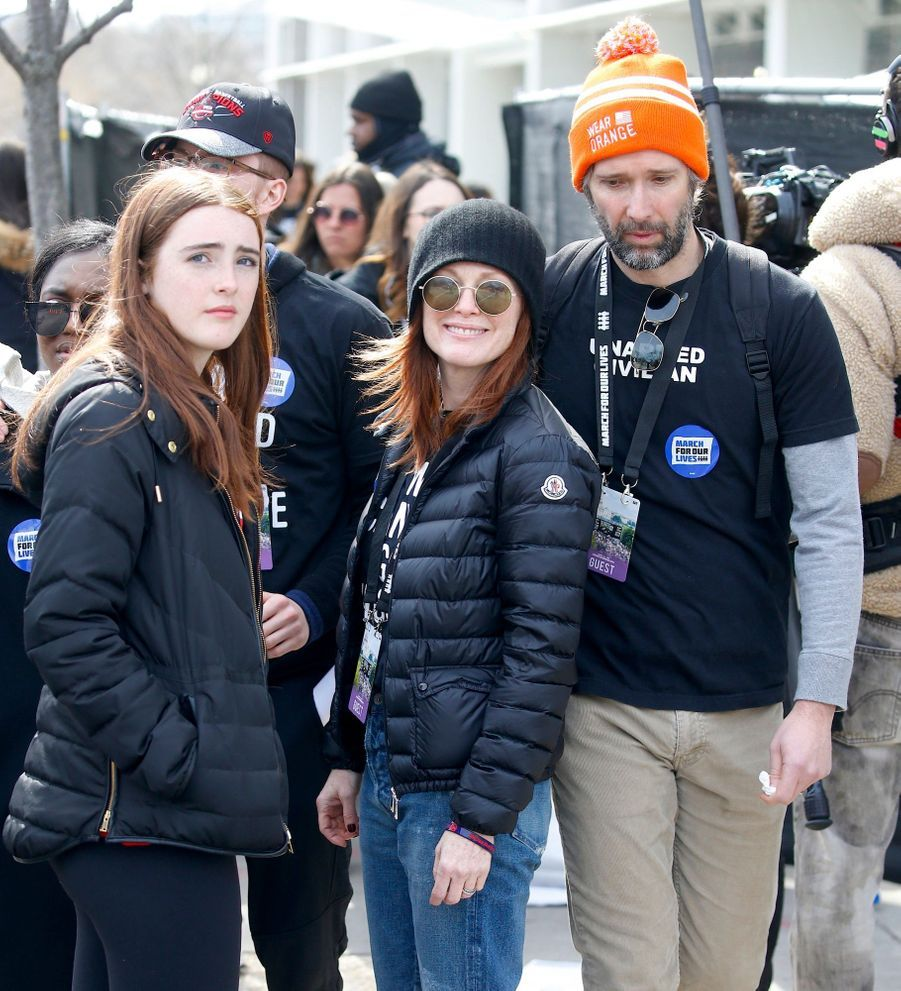 Julianne Moore avec sa fille Liv Freundlich et son mari Bart Freundlich