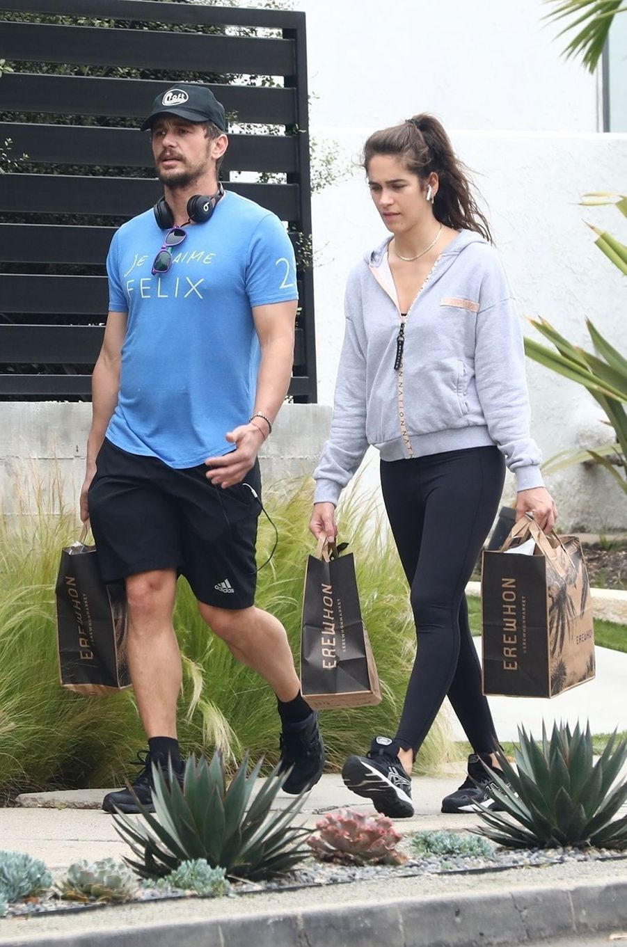 James Franco et sa compagne Izabel Pakzad à Los Angeles le 22 mars 2020
