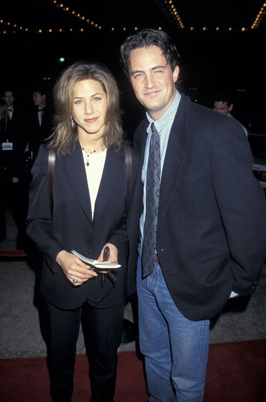 Jennifer Aniston et Matthew Perry en 1995