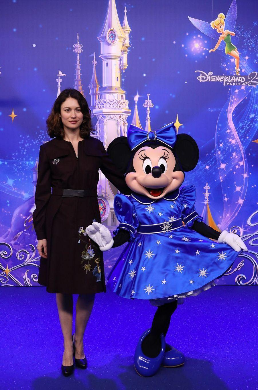 Olga Kurylenkoà Disneyland Paris.