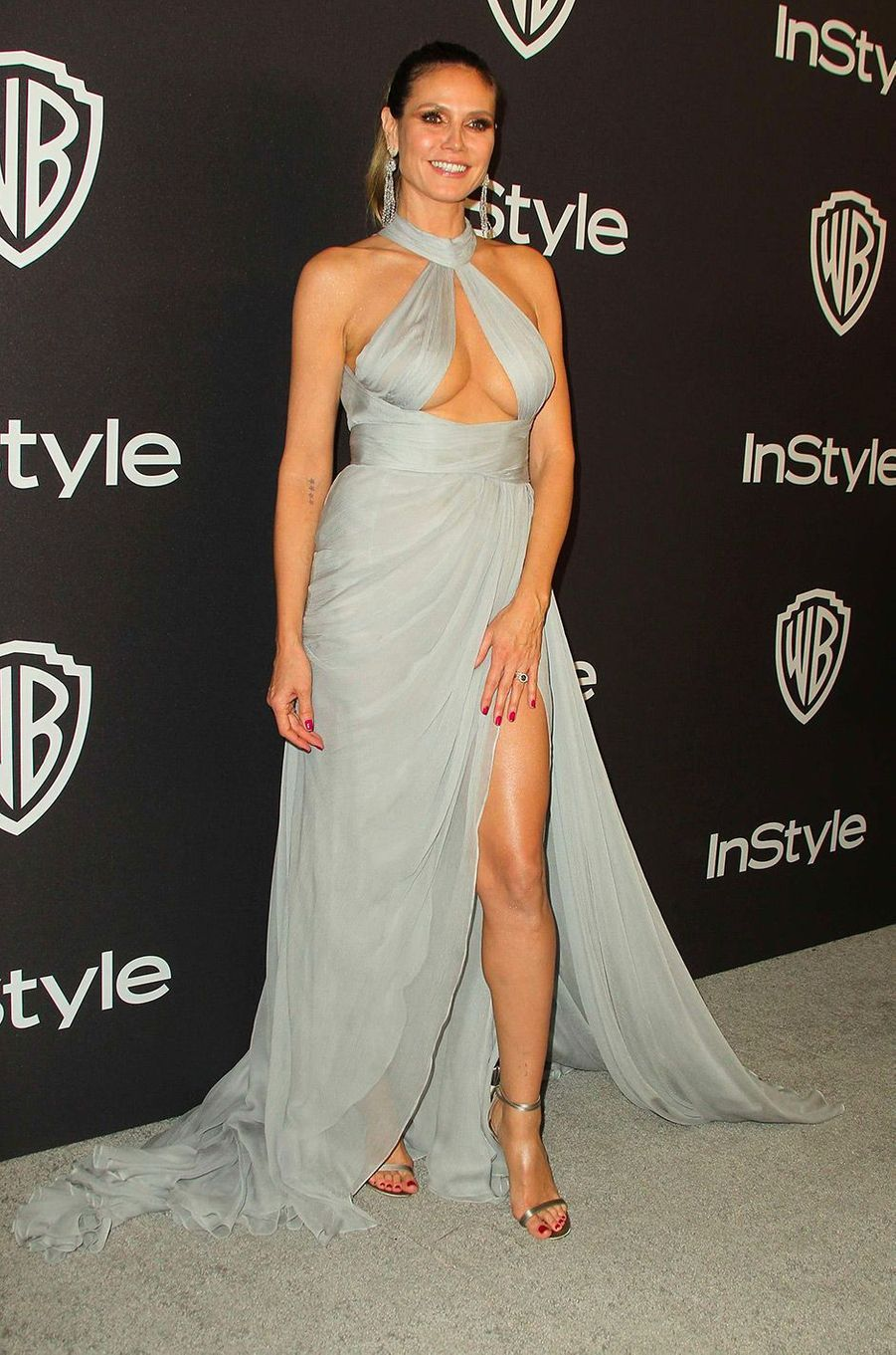 Heidi Klum à l'after-party In Style & Warner Bros, dimanche 6 janvier