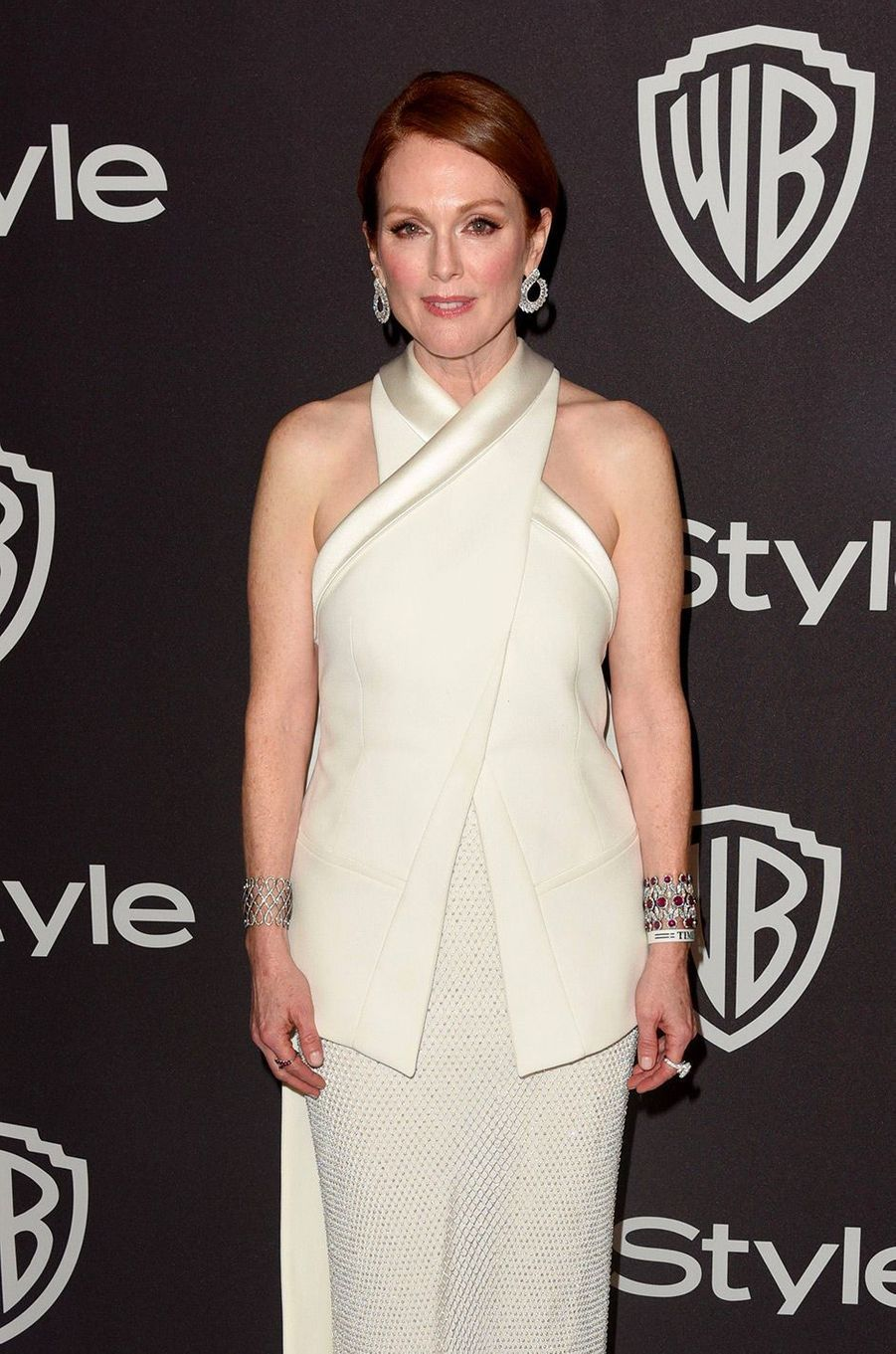 Julianne Moore à l'after-party In Style & Warner Bros, dimanche 6 janvier