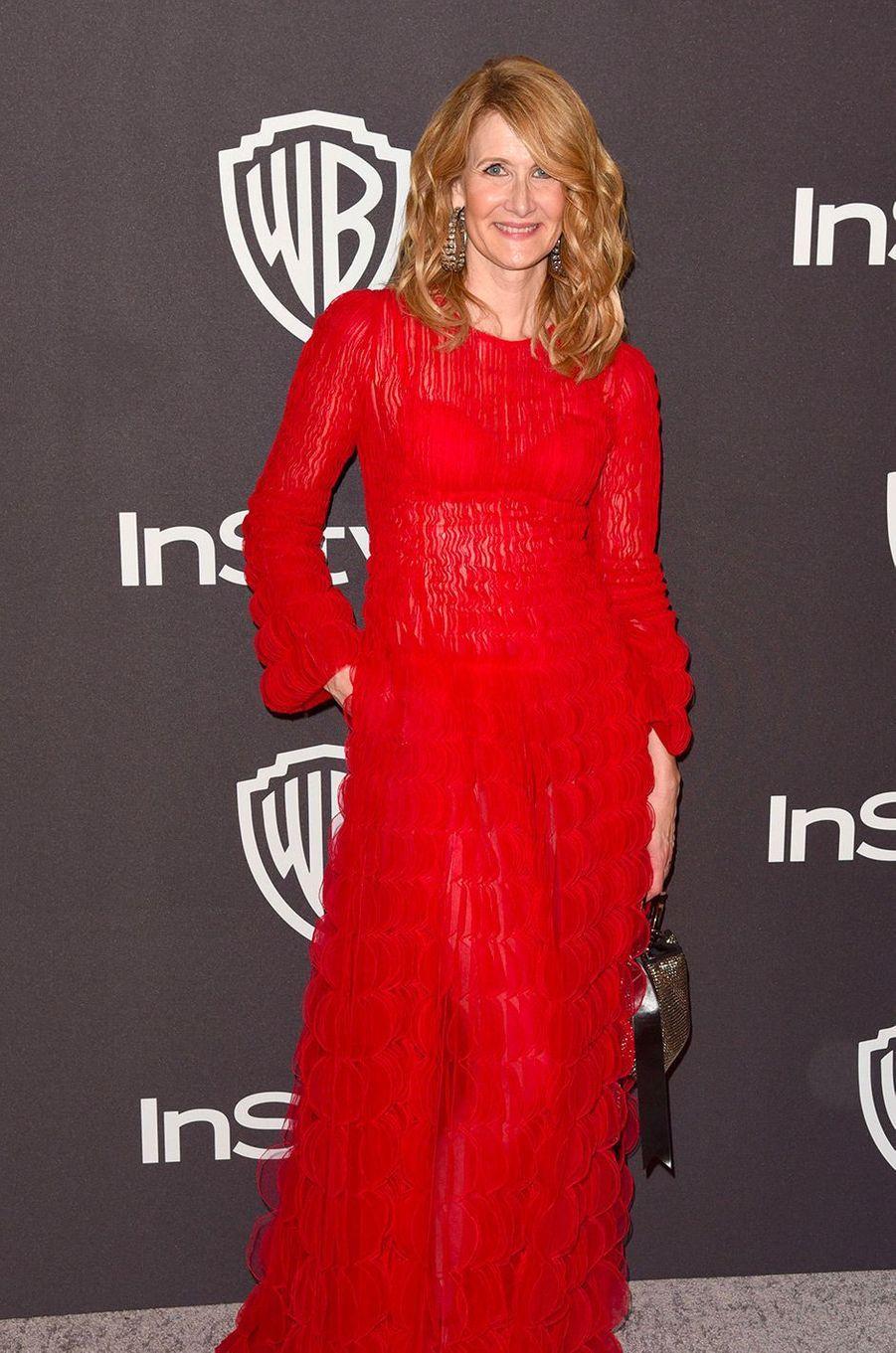 Laura Dern à l'after-party In Style & Warner Bros, dimanche 6 janvier