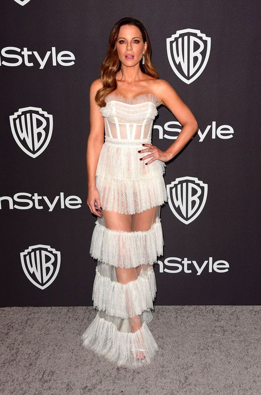 Kate Beckinsale à l'after-party In Style & Warner Bros, dimanche 6 janvier