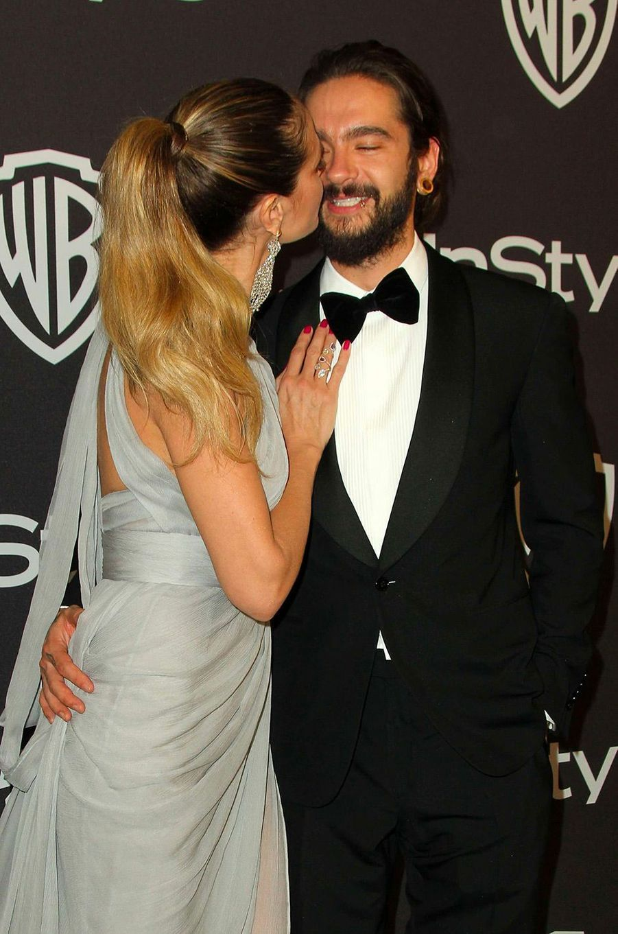 Heidi Klum et Tom Kaulitz à l'after-party In Style & Warner Bros, dimanche 6 janvier