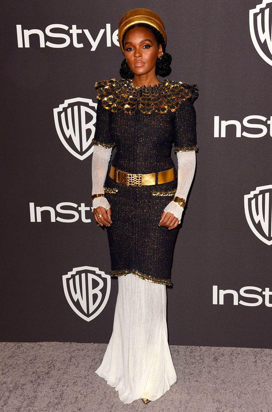 Janelle Monaeà l'after-party In Style & Warner Bros, dimanche 6 janvier