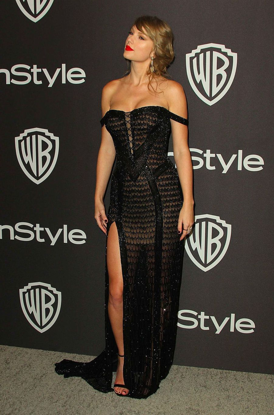 Taylor Swift à l'after-party In Style & Warner Bros, dimanche 6 janvier