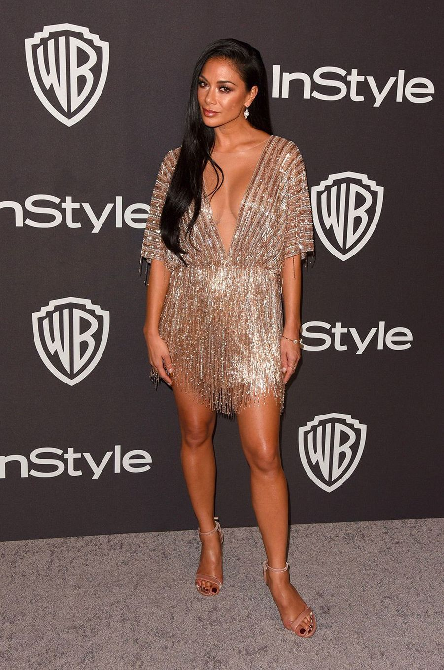 Nicole Scherzinger à l'after-party In Style & Warner Bros, dimanche 6 janvier