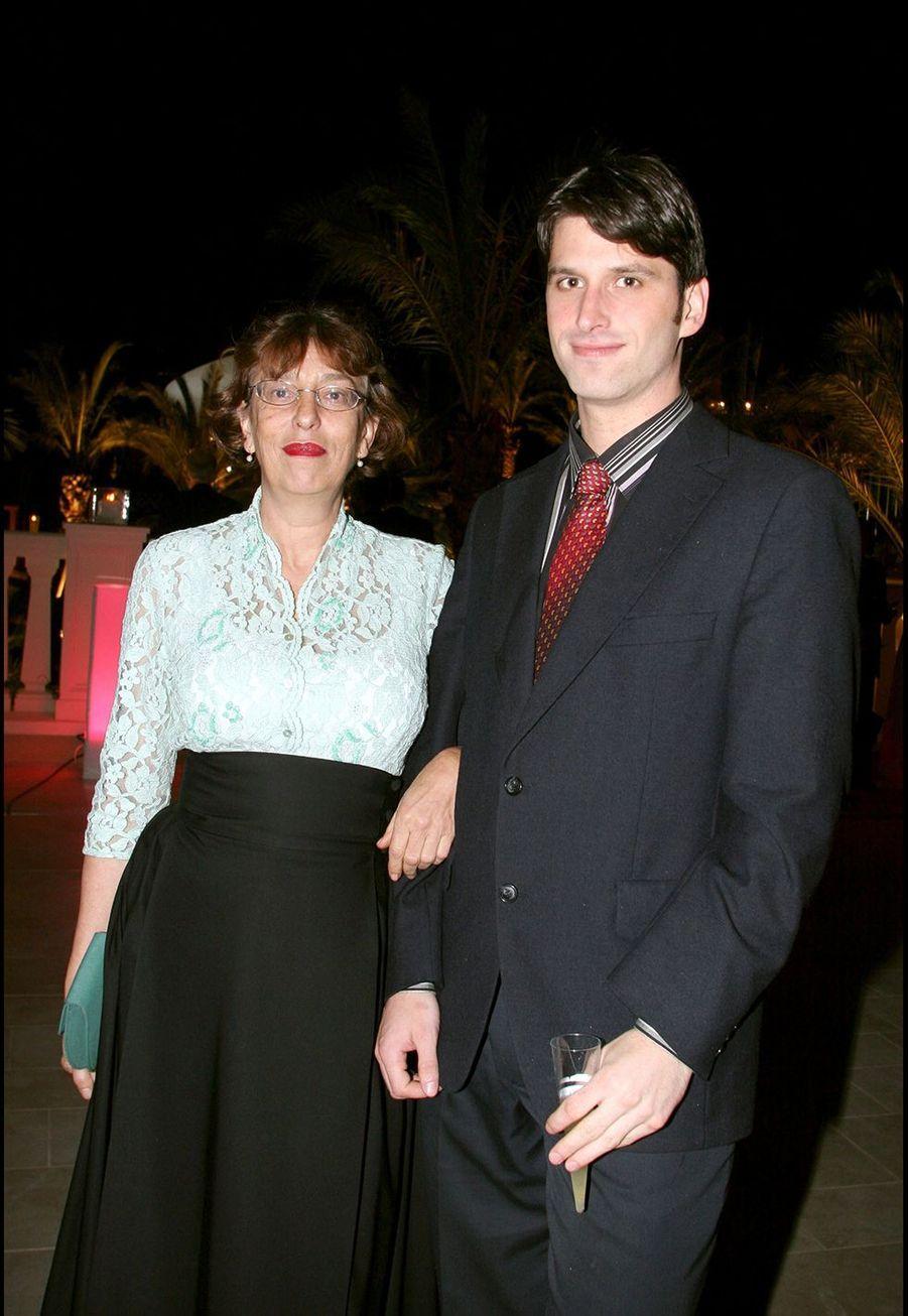 Anémone et son fils Jacob en 2005 à Monaco