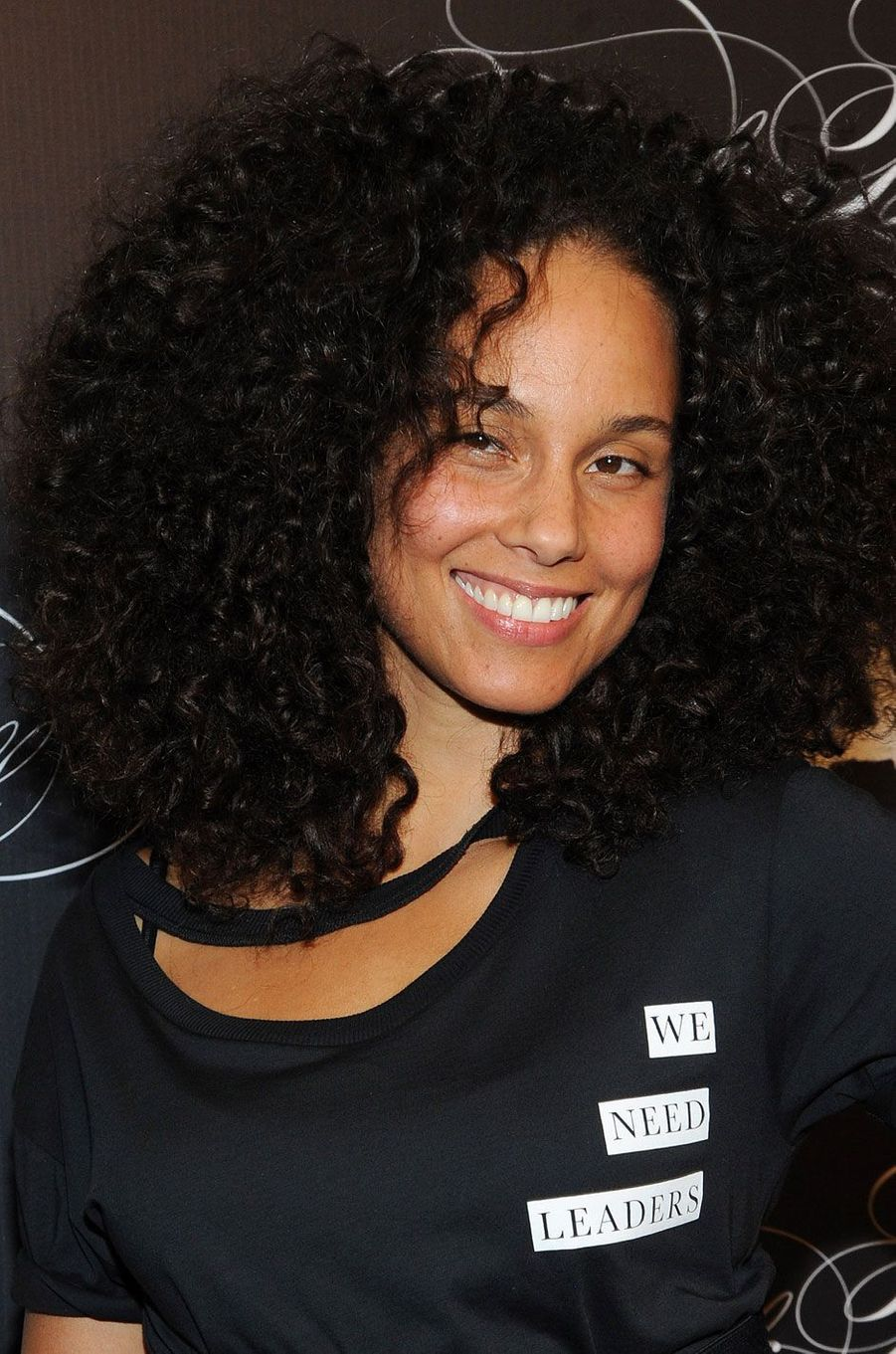 Alicia Keys sans maquillage, le 19 octobre 2016.