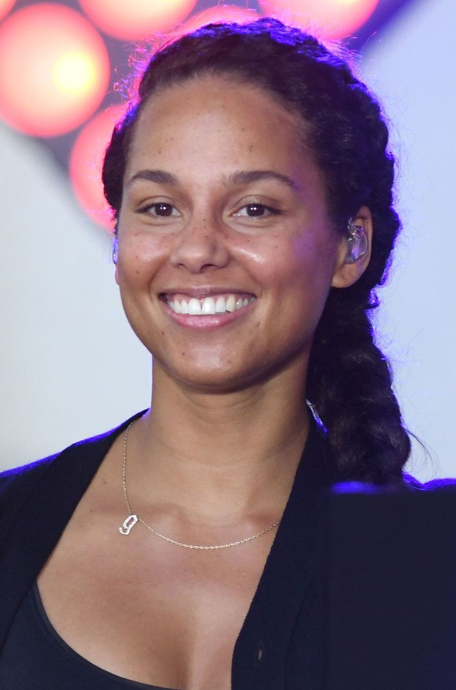 Alicia Keys donne un concert sans maquillage à New York en septembre 2016.