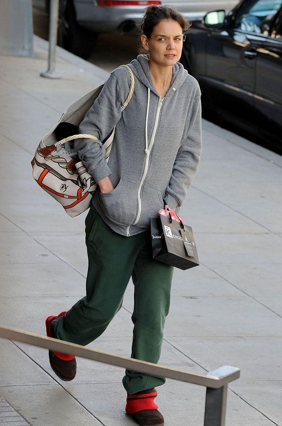 Katie Holmes sans maquillage.