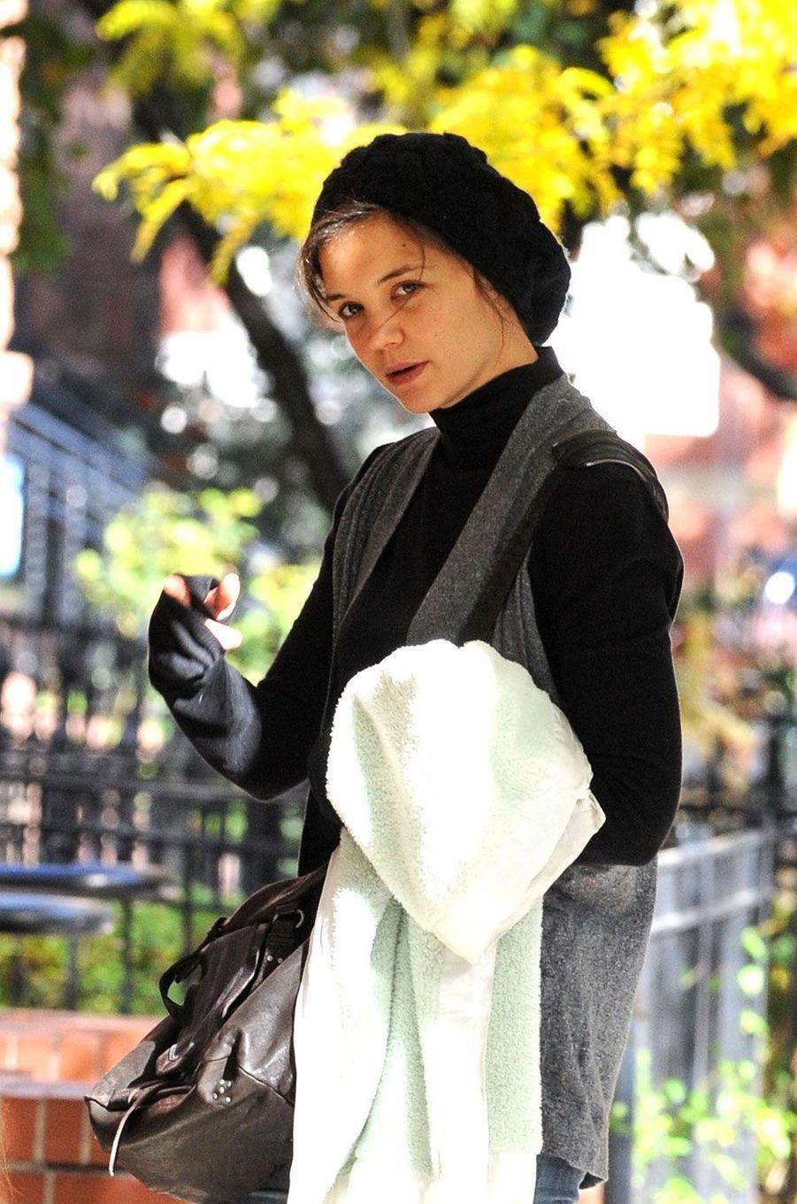 Katie Holmes au naturel.