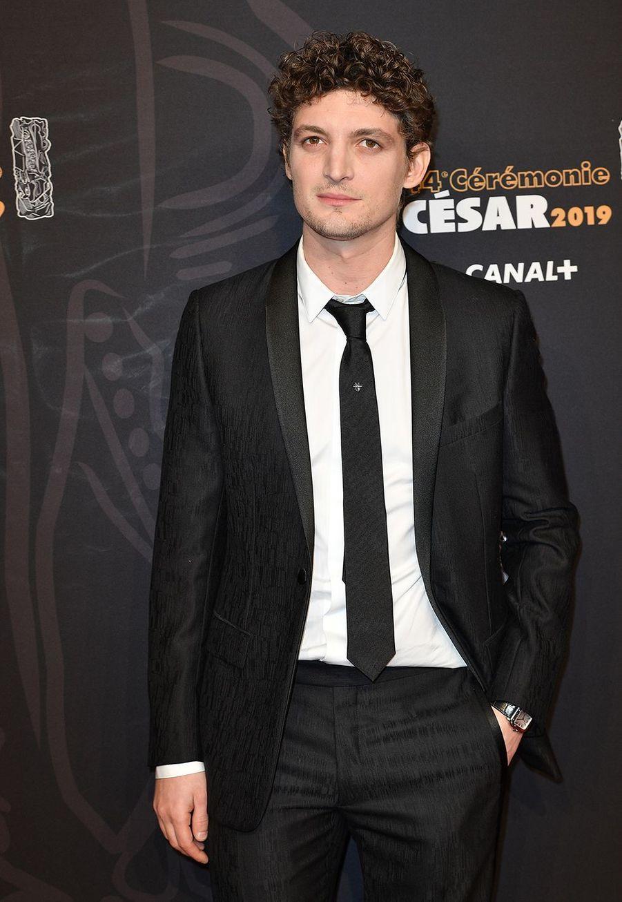 Niels Schneiderà la 44e cérémonie des César à la Salle Pleyel à Paris le 22 février 2019