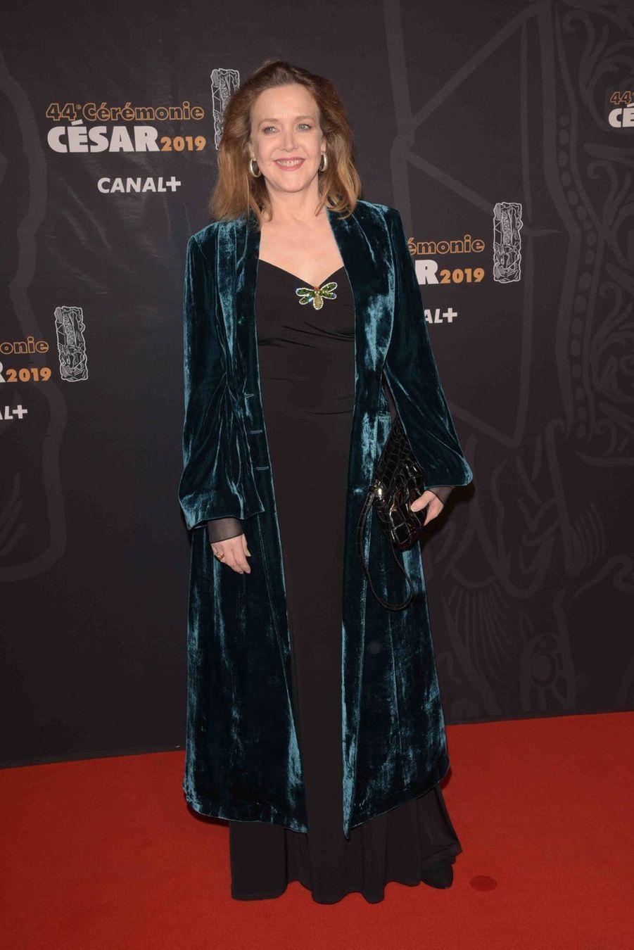 Agnès Soral à la 44e cérémonie des César à la Salle Pleyel à Paris le 22 février 2019
