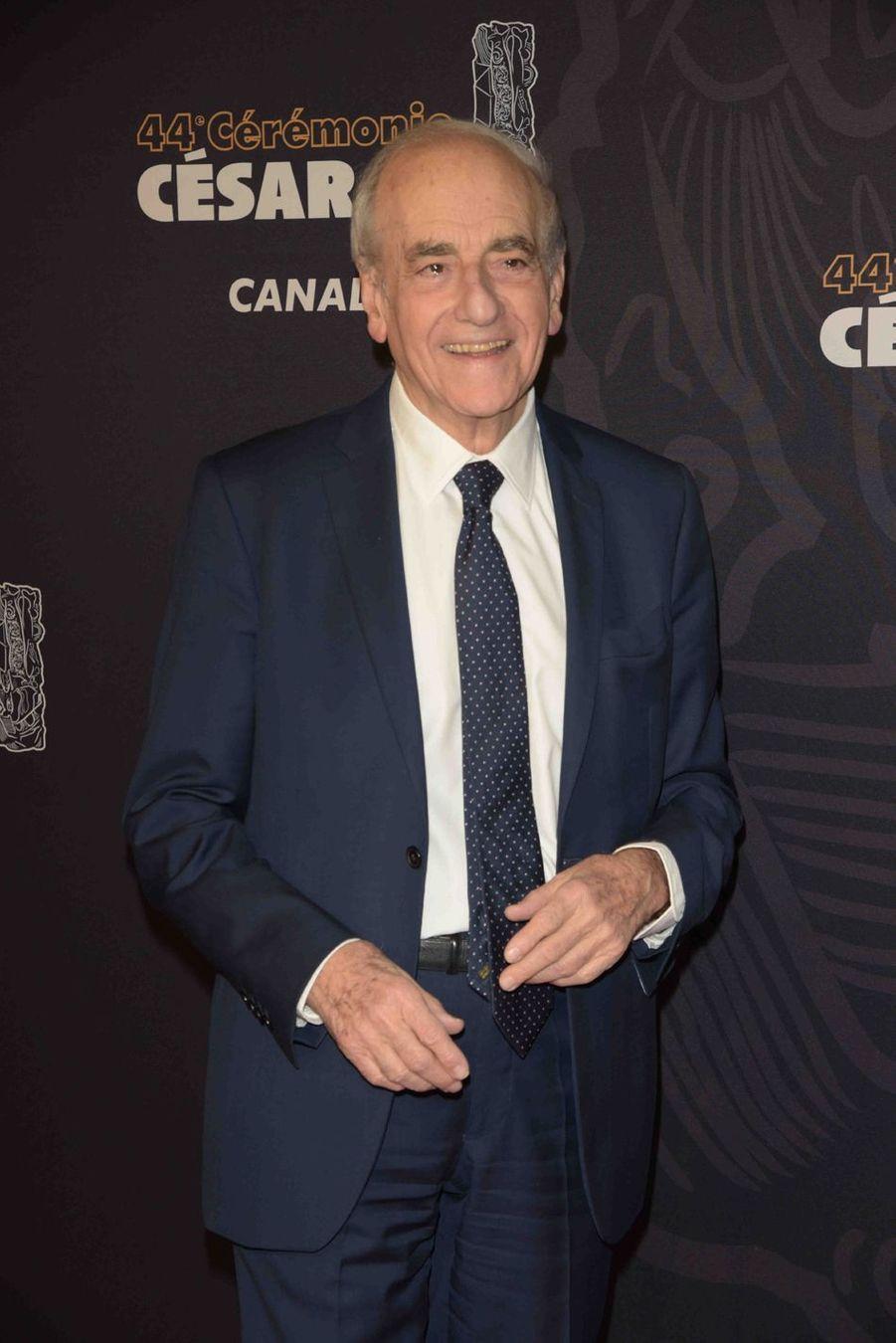 Jean-Pierre Elkabbachà la 44e cérémonie des César à la Salle Pleyel à Paris le 22 février 2019