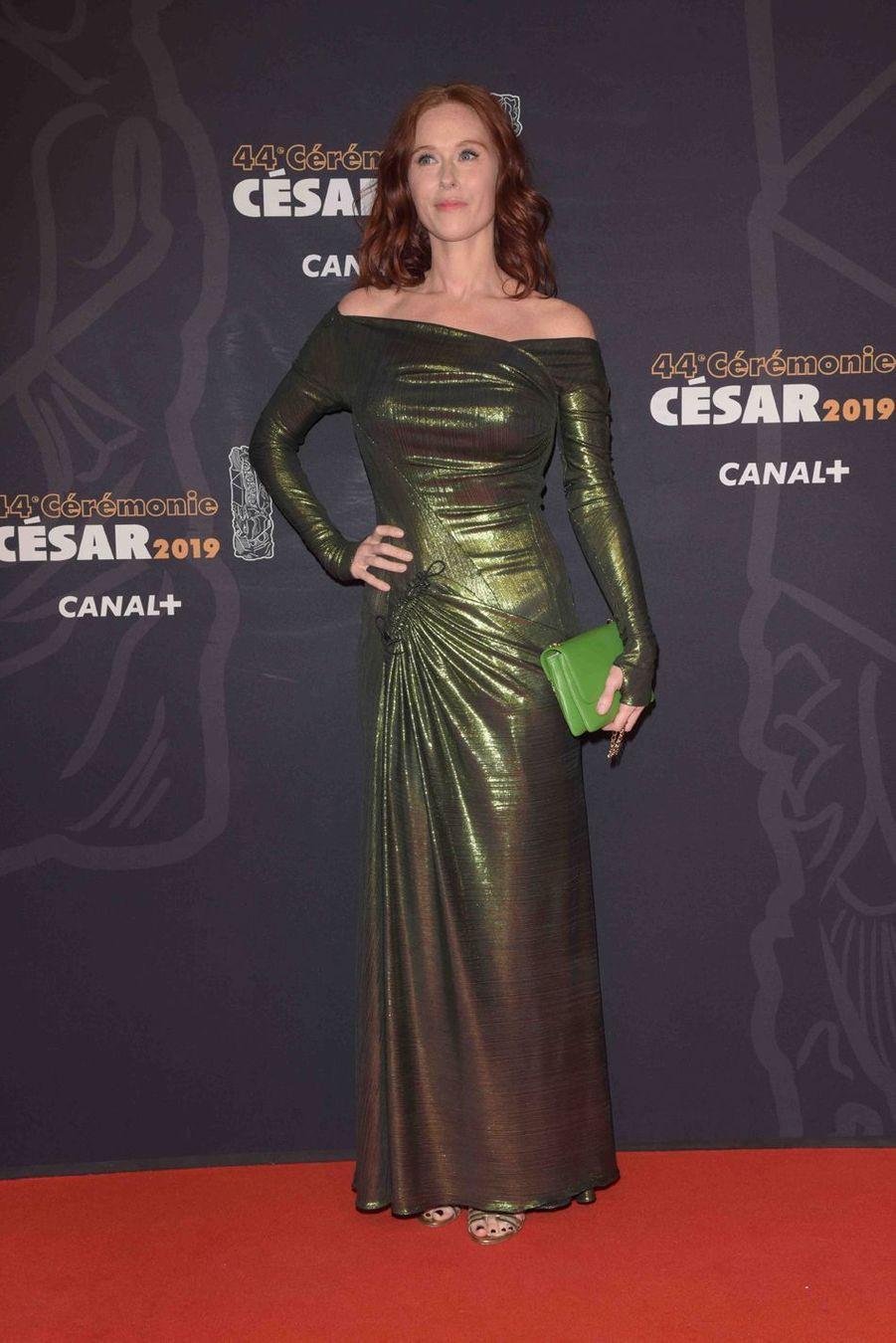 Audrey Fleurotà la 44e cérémonie des César à la Salle Pleyel à Paris le 22 février 2019