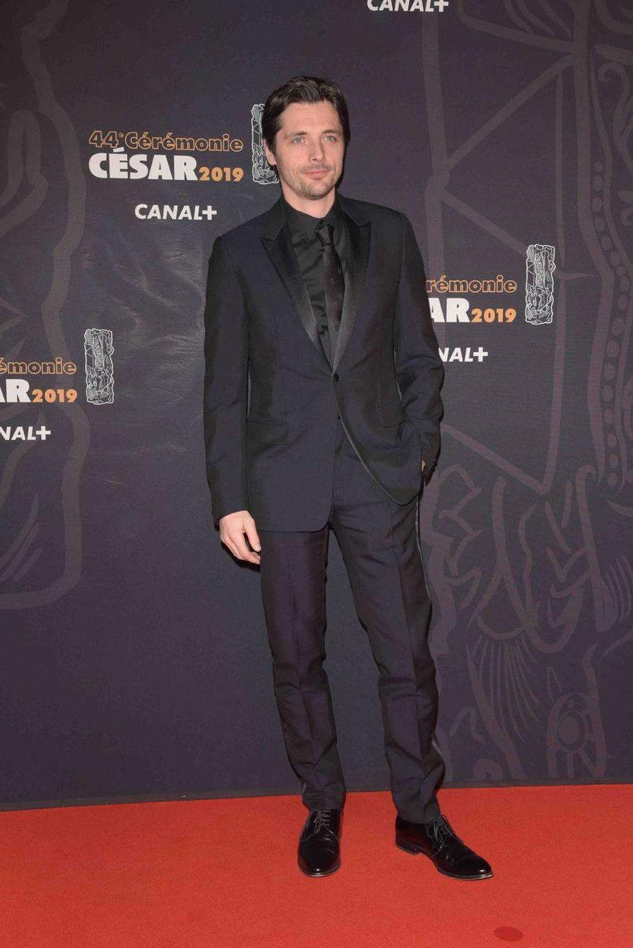Raphaël Personnazà la 44e cérémonie des César à la Salle Pleyel à Paris le 22 février 2019