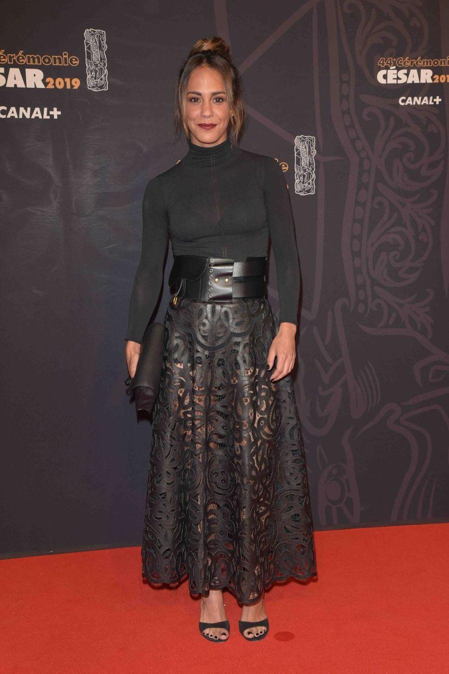 Alice Belaïdià la 44e cérémonie des César à la Salle Pleyel à Paris le 22 février 2019