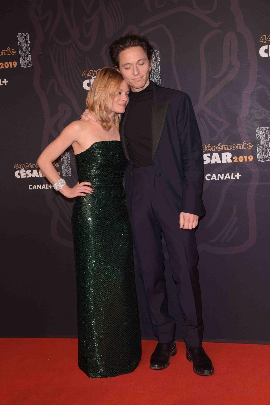 Mélanie Thierry et Raphaëlà la 44e cérémonie des César à la Salle Pleyel à Paris le 22 février 2019