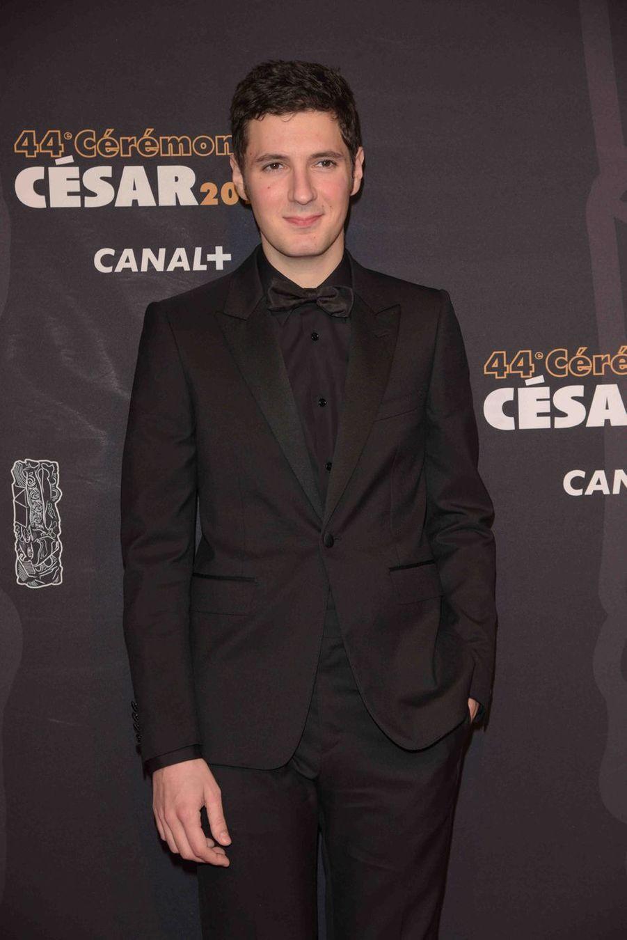 Vincent Lacoste à la 44e cérémonie des César à la Salle Pleyel à Paris le 22 février 2019