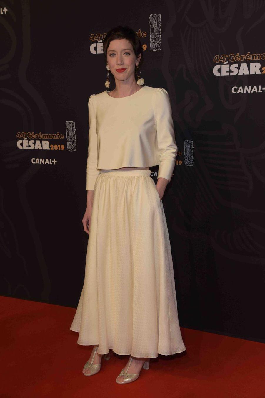 Sara Giraudeauà la 44e cérémonie des César à la Salle Pleyel à Paris le 22 février 2019