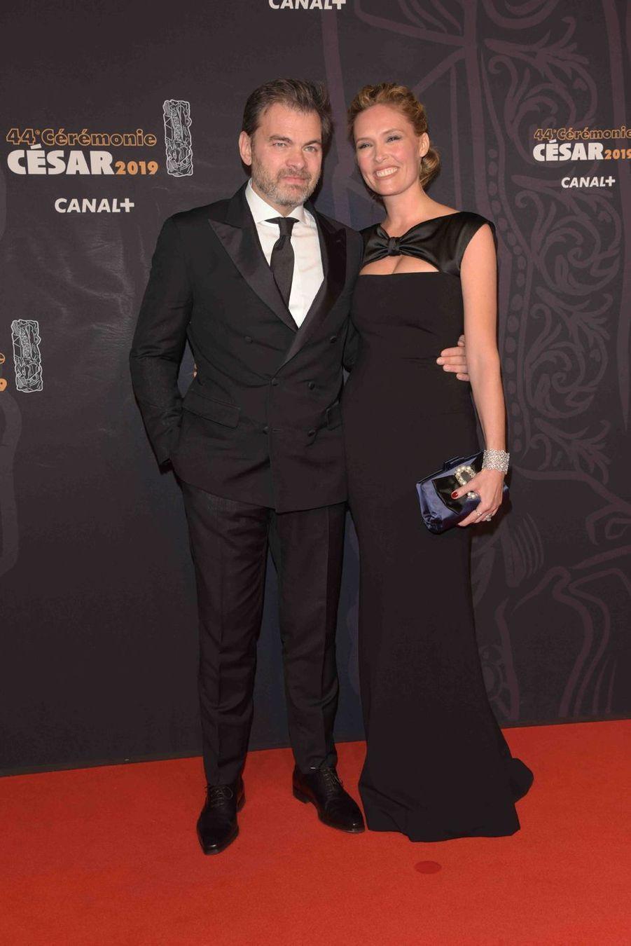 Clovis Cornillac et Lilou Foglià la 44e cérémonie des César à la Salle Pleyel à Paris le 22 février 2019