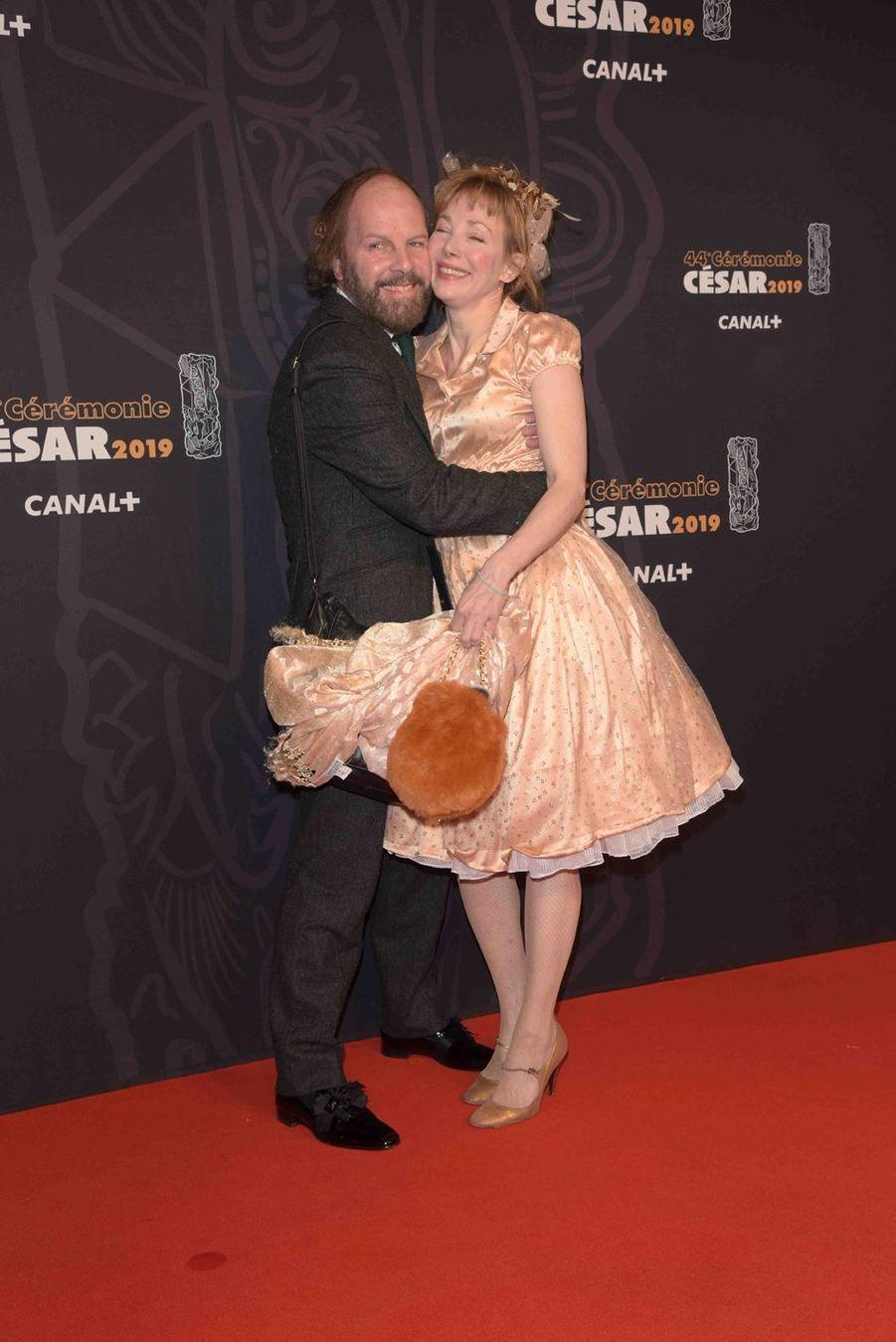 Philippe Katerine et Julie Depardieuà la 44e cérémonie des César à la Salle Pleyel à Paris le 22 février 2019