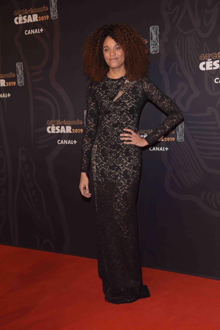 Stéfi Celma à la 44e cérémonie des César à la Salle Pleyel à Paris le 22 février 2019