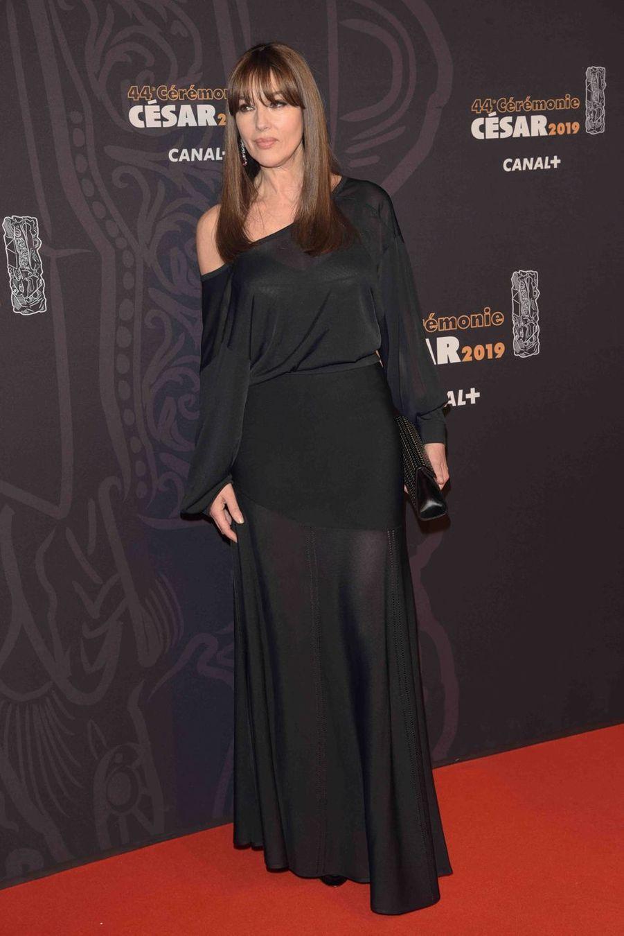 Monica Belluccià la 44e cérémonie des César à la Salle Pleyel à Paris le 22 février 2019