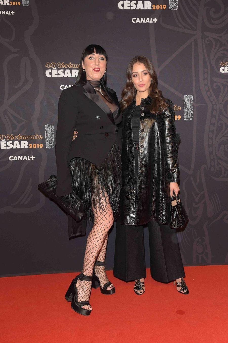 Rossy de Palma et Marie-Ange Castaà la 44e cérémonie des César à la Salle Pleyel à Paris le 22 février 2019