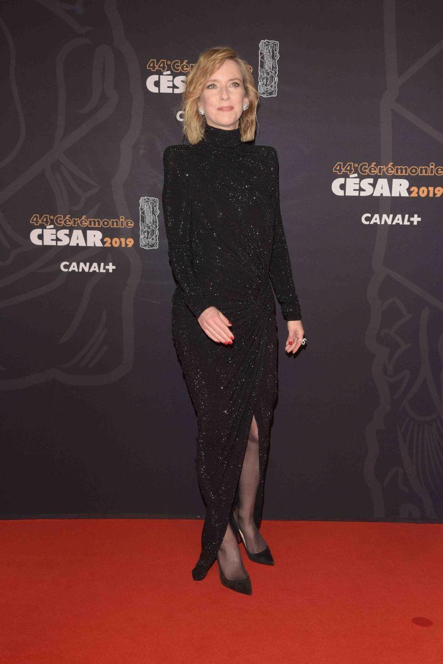 Léa Druckerà la 44e cérémonie des César à la Salle Pleyel à Paris le 22 février 2019
