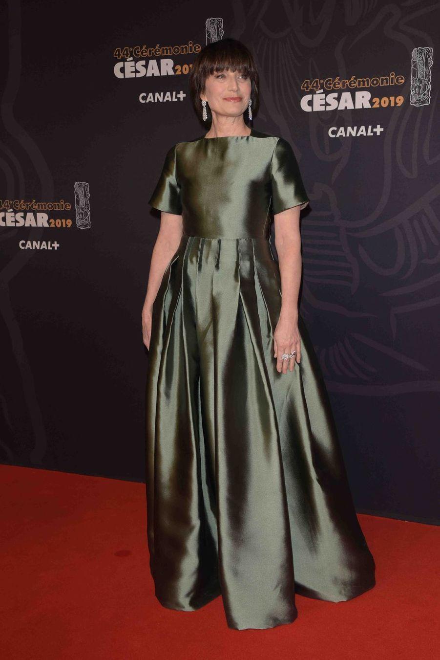 Kristin Scott Thomasà la 44e cérémonie des César à la Salle Pleyel à Paris le 22 février 2019
