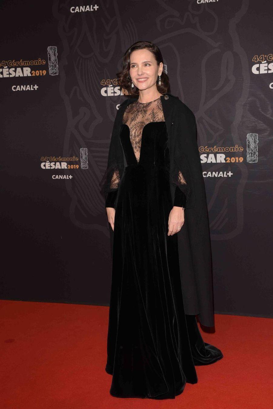 Virginie Ledoyen à la 44e cérémonie des César à la Salle Pleyel à Paris le 22 février 2019