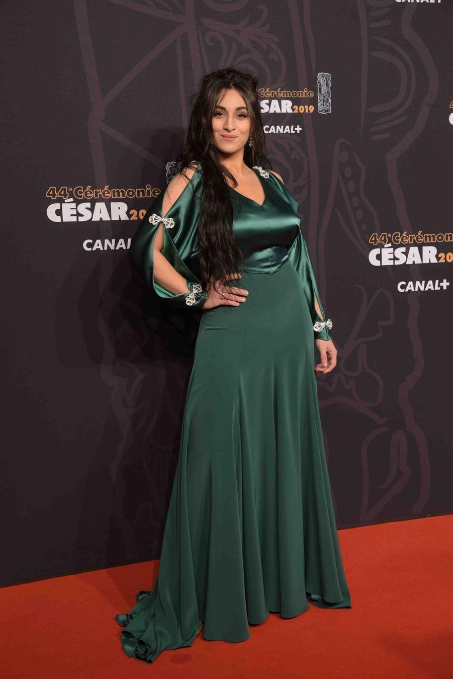 Camélia Jordanaà la 44e cérémonie des César à la Salle Pleyel à Paris le 22 février 2019
