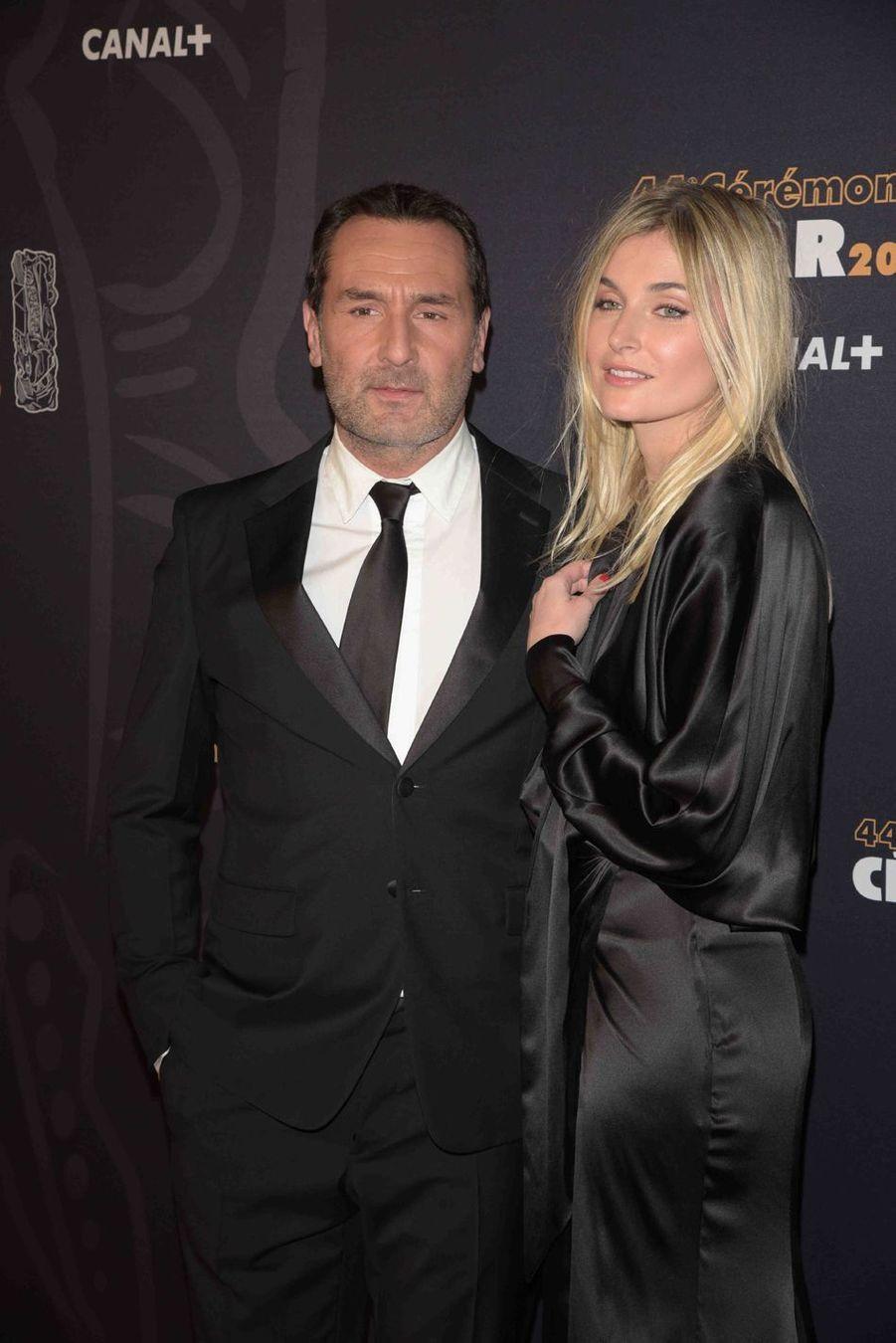Gilles Lellouche et Alizée Guinochet à la 44e cérémonie des César à la Salle Pleyel à Paris le 22 février 2019