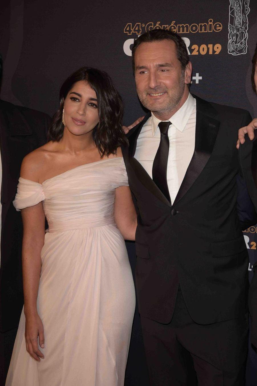 Leïla Bekhti et Gilles Lellouche à la 44e cérémonie des César à la Salle Pleyel à Paris le 22 février 2019
